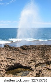Blow holes at Gnaraloo Station, Western Australia