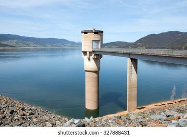 Blowering Dam, near Tumut, in New South Wales, Australia