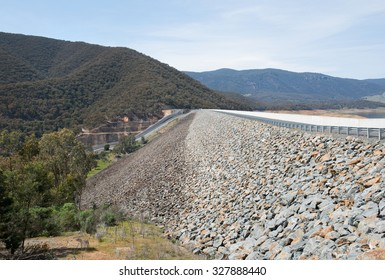 Blowering Dam, on the  Tumut River, New South Wales, Australia
