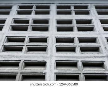 Grey Brick Blowhole Wall