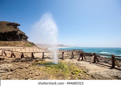 Blowholes at Al Mughsail Salalah , Dhofar governorate, Sultanate of Oman