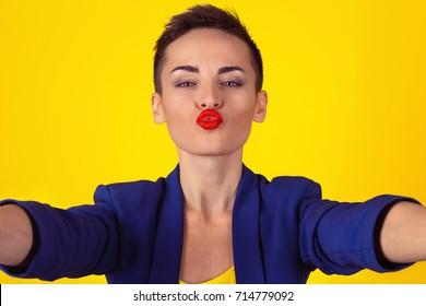 Asian girl virtual kiss