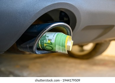 Blowing the money through the exhaust pipe  Petrol is becoming more and more expensive  CO2 tax makes driving expensive