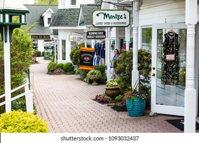 BLOWING RROCK, NC, USA-11 MAY 2018:Clean and inviting South Market Specialty Stores, on Main St., in Blowing Rock, NC, USA.