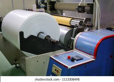 Blown film process machine winding unit