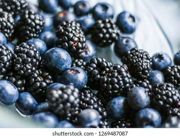 bluberries and blackberries - fresh fruits and healthy eating styled concept, elegant visuals