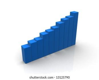 blue 3d chart