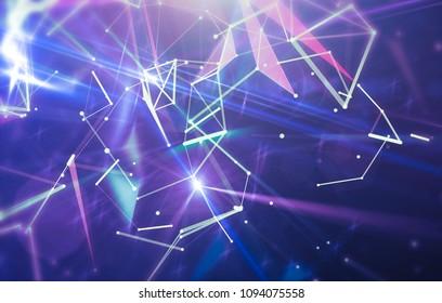 Blue abstract background holidays lights in motion blur image. Explosion star. illustration digital.