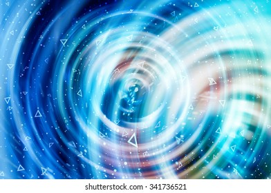 Blue abstract background holidays lights in motion blur image