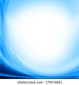 blue abstract background and white copy space