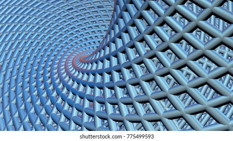 Blue abstract geometric 3d render background computer render