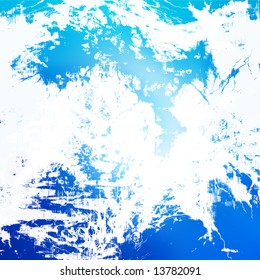 Blue abstract grunge background with some damage