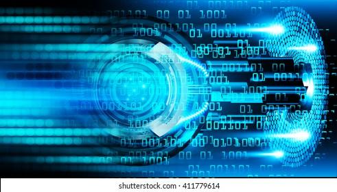 Blue abstract hi speed internet technology background illustration. eye scan virus computer. motion move.