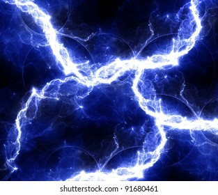 Blue abstract lightning background