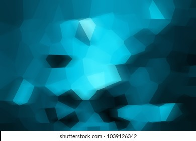 blue abstract mosaic background / spring business background, design lines broken wallpaper, blue gradient light