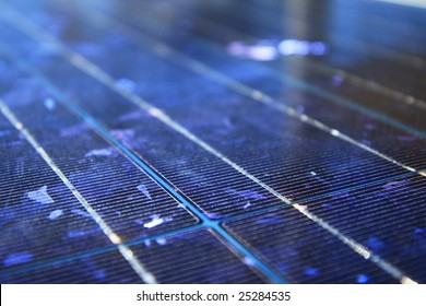 blue abstract solar panel