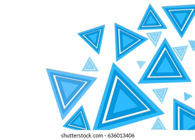 blue abstract  with  triangles