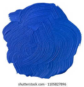 Blue Acrylic Paint Round Blot Cutout