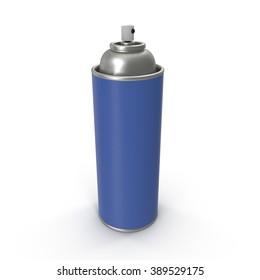 Blue Aerosol Spray Metal Bottle Can.