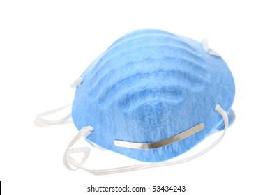 Blue allergy mask.