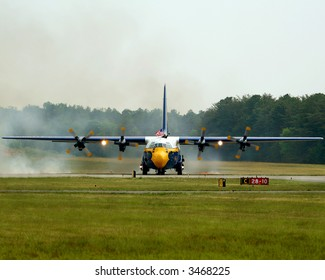 The Blue angels C-130 aircraft named the Fat Albert.