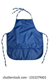 Blue apron isolated on white background