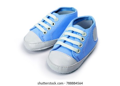ce5f614d5a14 Blue baby boy shoes isolated over a white background