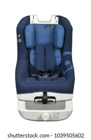 Blue baby car seat with isofix system