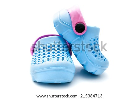 8abd8a872 Blue Baby Shoes Isolated On White Stock Photo (Edit Now) 215384713 ...