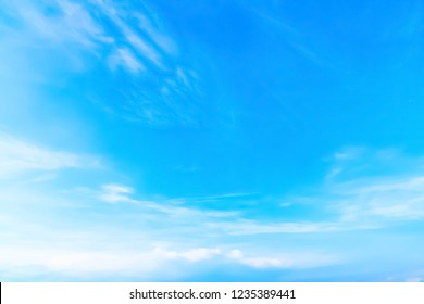 Blue backdrop in the air. - Shutterstock ID 1235389441