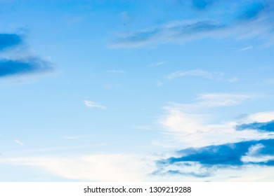 Blue backdrop in the air. - Shutterstock ID 1309219288