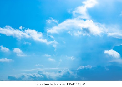 Blue backdrop in the air for text.