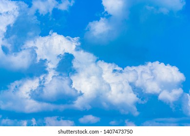 Blue backdrop in the air for text. - Shutterstock ID 1407473750