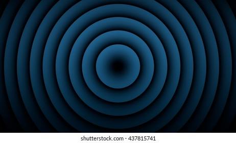 Blue Background 3D rendering high detail gradient. Spot lighting on background.