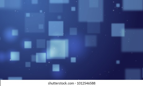 Blue Background Abstract square form,illustration for business science or technology