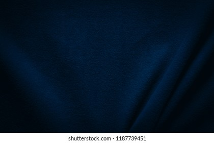Blue background fabric cloth texture.