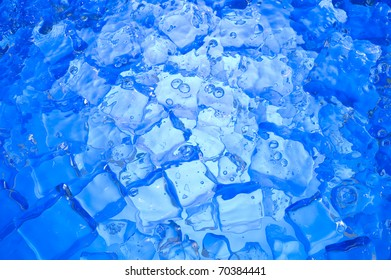 Blue background with  ice