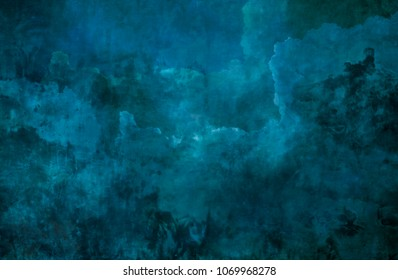 blue background wall made on real plaster