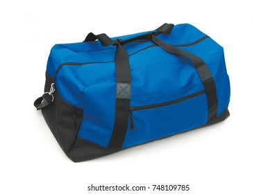 A blue bag on white background.
