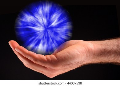Blue Ball of Light