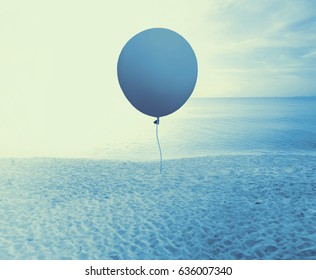 Blue balloon abstract background