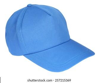 Blue baseball cap isolated on a white background