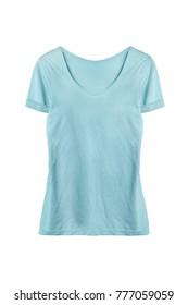 Blue basic sport t-shirt isolated over white