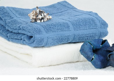 Blue Bath Towels