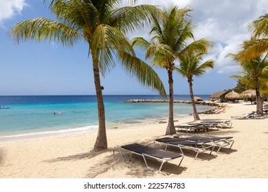 Blue Bay Beach in Curacao a Caribbean Island in the Caribbean