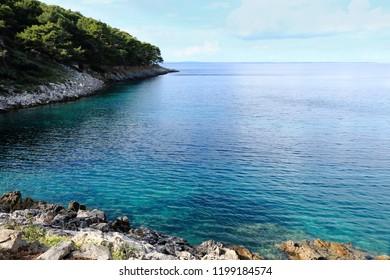 blue bay between Mali and Veli Losinj, Croatia
