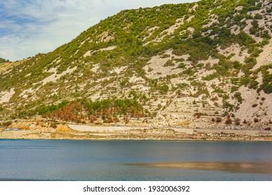 The blue bay and rocky hills of Bakarski zaliv in Bakar Croatia. - Shutterstock ID 1932006392