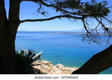 blue bay of Valdarke, island Losinj, Croatia