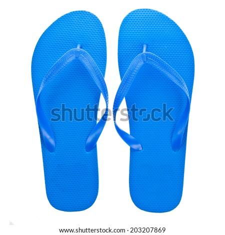 55e93b5b2de Blue Beach Sandals Flip Flops Isolated Stock Photo (Edit Now ...