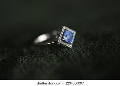 Blue Beautiful Wedding Ring